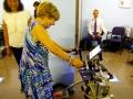 Patient tests the walker